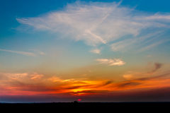 Sunset. Beautiful Sunset Landscape in Germany Royalty Free Stock Photo