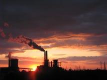 Sunset. A beautiful sunset near my house in Romania Stock Image