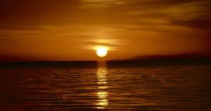 Sunset. Beautiful sunset overlooking the Philipinne's Sea Stock Photography