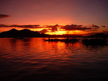 Sunset. Beautiful sunset in the Philippines royalty free stock photos
