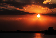 Sunset. This is a beautiful place in Bucharest named Lake Mill Stock Photography