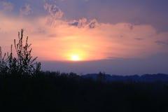 Sunset. Beautiful Sunset at Pymatuning Pennsylvania Stock Image