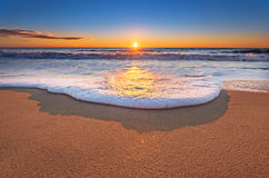 Sunset with beautiful sky. Sunset on the beach with beautiful sky Royalty Free Stock Photos