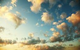 Sunset with beautiful sky Stock Photos
