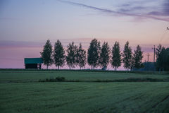 Sunset. Beautiful sky and countryside in Estonia Stock Photography
