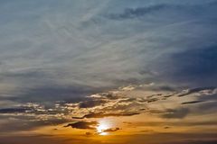 Sunset. Beautiful sunset sky with no objects Royalty Free Stock Images