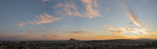 Sunset of the beautiful skyline stock photography