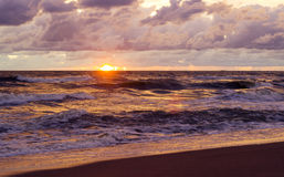 Sunset. Beautiful sunset at baltic sea. Stock Images