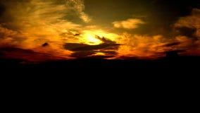 Sunset. Beautiful surroundings setting Royalty Free Stock Photography