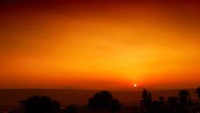 Sunset. Beautiful susnet in Tiberias, Israel Royalty Free Stock Photo