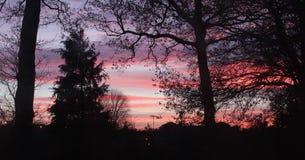 Sunset. Beautiful UK sunset Stock Photos