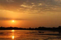 Sunset. Beautiful view of sunset with beautiful color. this place is kagdi pick up lake, banswara, rajasthan 327001 india Stock Photography