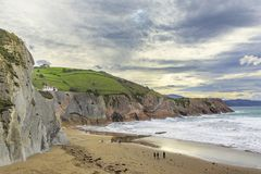 The Flysch in Zumaia Stock Images
