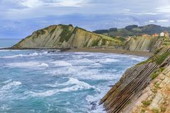 The Flysch in Zumaia Royalty Free Stock Photos