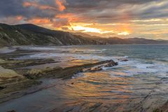 The Flysch in Zumaia Royalty Free Stock Photography