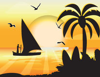 Sunset Beauty card Royalty Free Stock Image