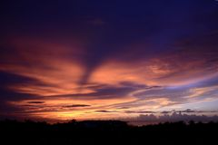 Sunset. The beauty of the sky during the sunset royalty free stock photos