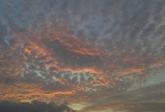 When sunset become, I love to look at the sky. stock images