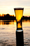Sunset beer Royalty Free Stock Images