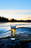 Sunset beer Royalty Free Stock Photo