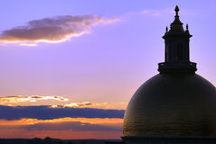 Sunset behind dome Stock Photography