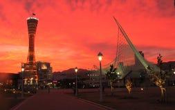 Goergous Sunset in Kobe, Japan stock images
