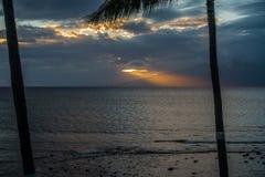 Maui Sunset Over Molokai 3. A sunset behind Molokai, Hawaii. Shot taken from Maui, Hawaii Royalty Free Stock Photography