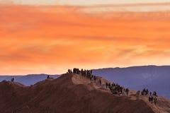 Sunset behind mountains in the Atacama desert Stock Photography