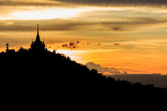 Sunset behind pagoda Royalty Free Stock Photos