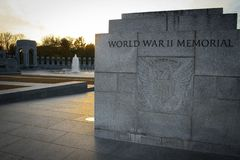 Free Sunset Behind The World War II Monument Stock Image - 106864851
