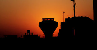 Sunset in cairo in egypt in africa Royalty Free Stock Photography