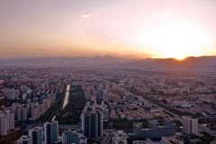 Sunset In Beijing Stock Photography
