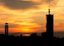 Sunset in Belgrade Royalty Free Stock Photos