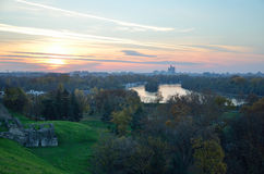 Sunset in Belgrade Royalty Free Stock Photography