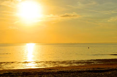 Sunset on Ben T Davis Beach in Florida Royalty Free Stock Image
