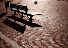 Sunset Bench Stock Images