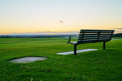 Sunset bench Royalty Free Stock Images