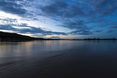 Sunset on the Beni river in Rurrenabaque, Bolivia. Stock Image
