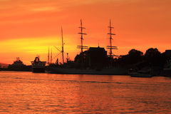 Sunset in Bergen Stock Photography