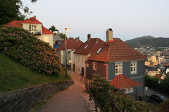 Sunset in Bergen Royalty Free Stock Images