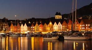 Sunset in Bergen, Norway Stock Photo