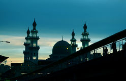 The sunset besides Islamic Mosque Royalty Free Stock Image