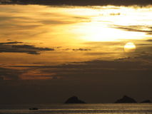 Sunset. The best sunset from 2014, in Ipanema ,Rio de janeiro - Brazil Royalty Free Stock Photography