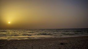 Sunset at Beth Yani Beach. North of the Sharon, Israel Stock Photos