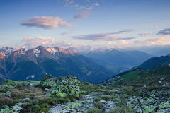 Sunset from Bettmerhorn Royalty Free Stock Photo