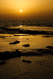 Sunset in Betzet Beach Stock Images
