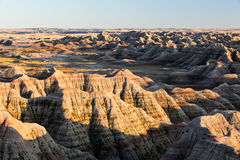 Sunset at big badlands overlook Royalty Free Stock Images