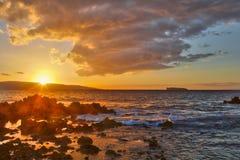 Sunset at Big Beach Royalty Free Stock Photo