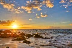 Sunset at Big Beach Stock Image