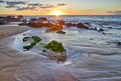 Sunset at Big Beach Royalty Free Stock Photography